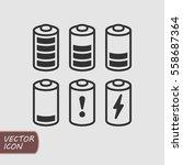 batteries icons set | Shutterstock .eps vector #558687364