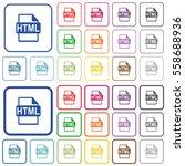 html file format color flat...   Shutterstock .eps vector #558688936