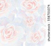 Stock photo watercolor illustration white roses wedding invitation decor 558701074
