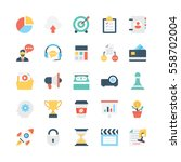 business vector icons 1 | Shutterstock .eps vector #558702004
