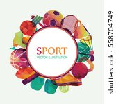 color sport background.... | Shutterstock .eps vector #558704749
