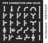 vector icon of steel pipe... | Shutterstock .eps vector #558705109