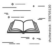 flat line design graphic image...   Shutterstock .eps vector #558705130