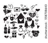 vector hand drawn valentine...