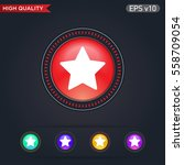 colored icon or button of star... | Shutterstock .eps vector #558709054