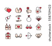 vector valentine icons set....