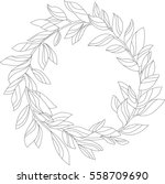 stylish nature wreath with... | Shutterstock .eps vector #558709690