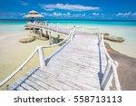 wood pier and hut  koh kood... | Shutterstock . vector #558713113
