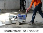 workers are scrubber... | Shutterstock . vector #558720019