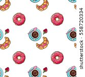 vector seamless pattern with... | Shutterstock .eps vector #558720334