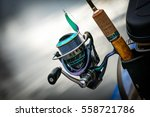 fishing reel  blurred... | Shutterstock . vector #558721786