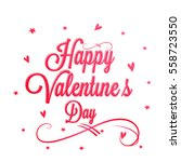 red hearts decorated greeting... | Shutterstock .eps vector #558723550