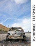 stolen  abandoned  and burned... | Shutterstock . vector #558724630