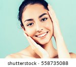 glamour portrait of beautiful... | Shutterstock . vector #558735088