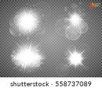 sun light with lens flare... | Shutterstock .eps vector #558737089