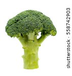 Ripe Broccoli Cabbage Isolated...