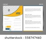 vector business flyer  magazine ... | Shutterstock .eps vector #558747460