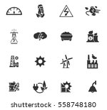 electricity vector icons for... | Shutterstock .eps vector #558748180