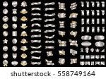 silver ribbon banner label... | Shutterstock .eps vector #558749164