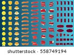 ribbon label banner gold vector ... | Shutterstock .eps vector #558749194