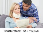 couple reading letter about...   Shutterstock . vector #558749668