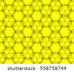 seamless pattern with symmetric ... | Shutterstock .eps vector #558758749