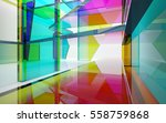 abstract architectural interior ... | Shutterstock . vector #558759868
