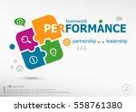 performance word cloud on... | Shutterstock .eps vector #558761380