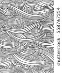 abstract doodle pattern.... | Shutterstock .eps vector #558767254