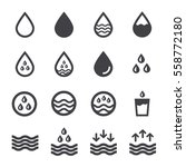 water icon | Shutterstock .eps vector #558772180