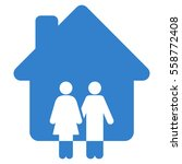 family house glyph icon. flat... | Shutterstock . vector #558772408