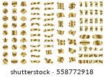gold banner ribbon label vector ... | Shutterstock .eps vector #558772918