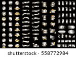 silver label banner ribbon... | Shutterstock .eps vector #558772984
