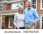 portrait of mature couple... | Shutterstock . vector #558781924