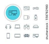 illustration of 12 hardware... | Shutterstock . vector #558782980