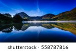 early morning at buttermere ... | Shutterstock . vector #558787816
