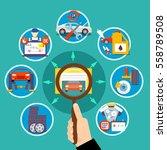 auto service circle design... | Shutterstock .eps vector #558789508
