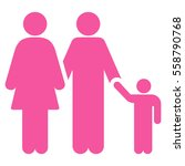 family vector icon. flat pink...   Shutterstock .eps vector #558790768