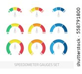 speedometer gauges flat icon... | Shutterstock .eps vector #558791800