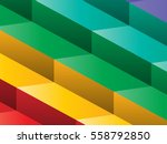Colorful Steps Vector...