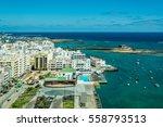 cityscape of arrecife  the... | Shutterstock . vector #558793513