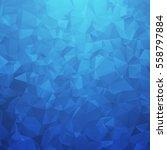 Blue Geometric Triangular...