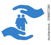 people care hands vector icon.... | Shutterstock .eps vector #558807280