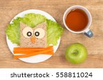 funny sandwich for kids in... | Shutterstock . vector #558811024