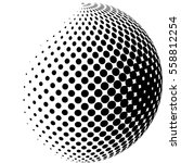 abstract technology circles... | Shutterstock .eps vector #558812254