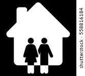 family house vector icon. flat... | Shutterstock .eps vector #558816184