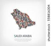 people map country saudi arabia ... | Shutterstock .eps vector #558816304