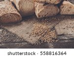 plenty of sliced bread... | Shutterstock . vector #558816364