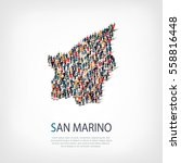 people map country san marino... | Shutterstock .eps vector #558816448