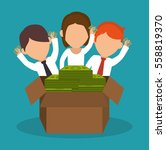crowdfunding savings concept... | Shutterstock .eps vector #558819370
